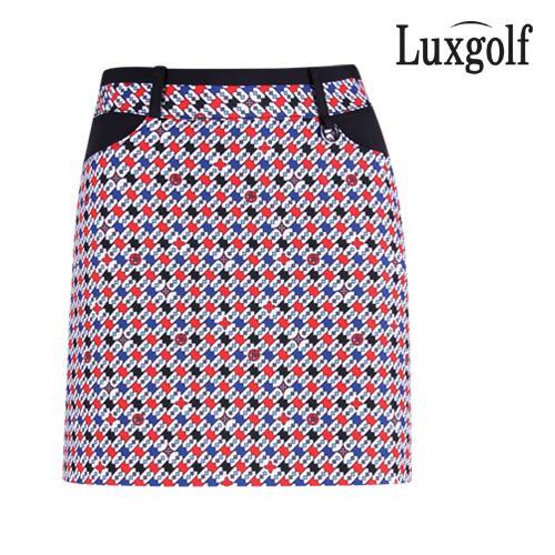 럭스골프 여성 패턴 포인트 큐롯 치마바지 YD1M111