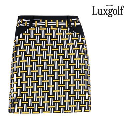 럭스골프 여성 패턴 포인트 큐롯 치마바지 YD1M110