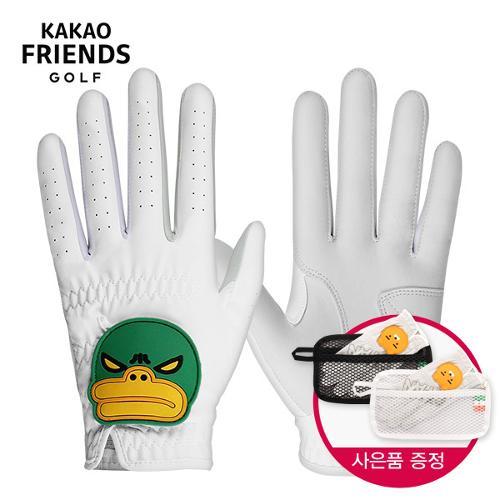 [카카오프렌즈]튜브 반양피 남성용 왼손/오른손 골프장갑 [KMG10003] + 장갑건조 파우치-1PCS