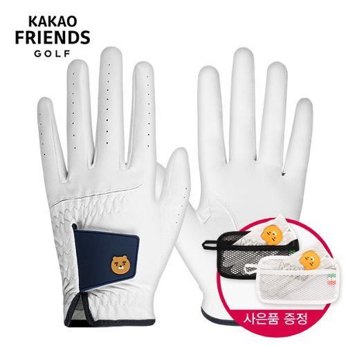 [카카오프렌즈]라이언 테트라 남성용 왼손/오른손 골프장갑 [KMG10005] + 장갑건조 파우치-1PCS