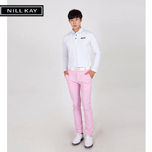 [닐케이골프] NLA1MB-4102 모노컬러 남성 골프팬츠 핑크