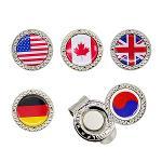세계 국기 골프 볼마커/자석클립포함 5종 택1-JI-BM01