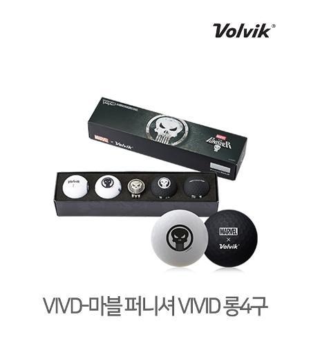 볼빅 정품 2021 마블 퍼니셔 VIVID 롱세트 골프볼 3피스 4알