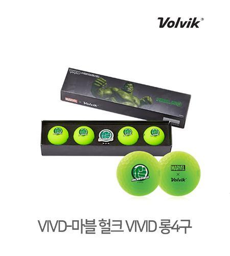 볼빅 정품 2021 마블 헐크 VIVID 롱세트 골프볼 3피스 4알