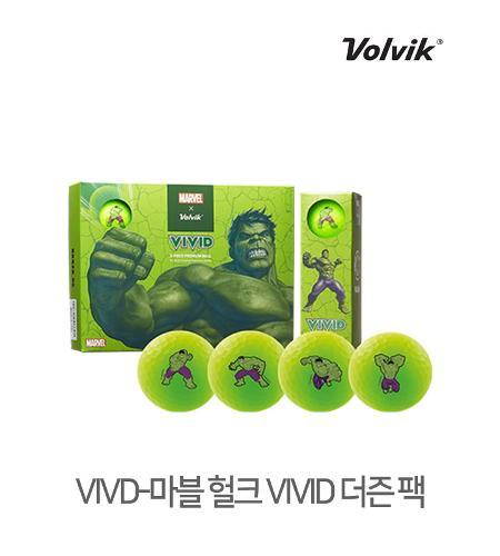 볼빅 정품 2021 마블 헐크 VIVID 골프볼 3피스 12알