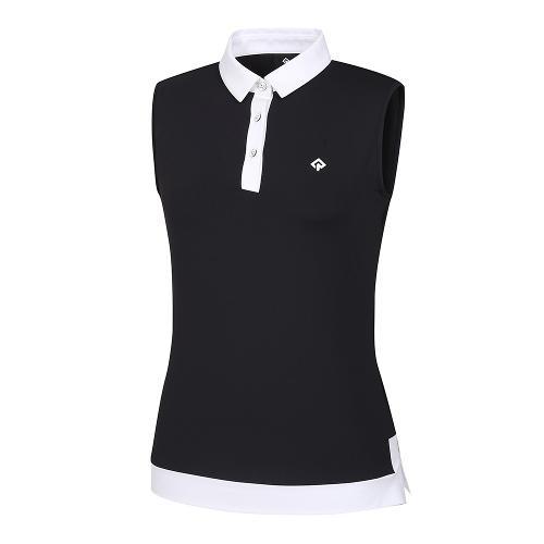 [레노마골프]21SS 여성 배색 카라 민소매 티셔츠 RWTSK6119-199_G