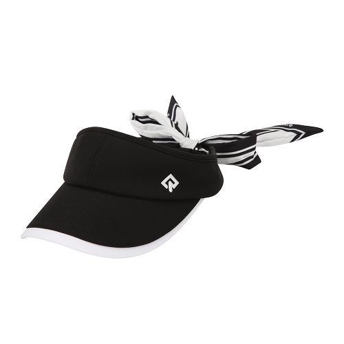 [레노마골프]21SS 여성 배색 리본 탈부착 썬캡 모자 RWACK6813-199_G