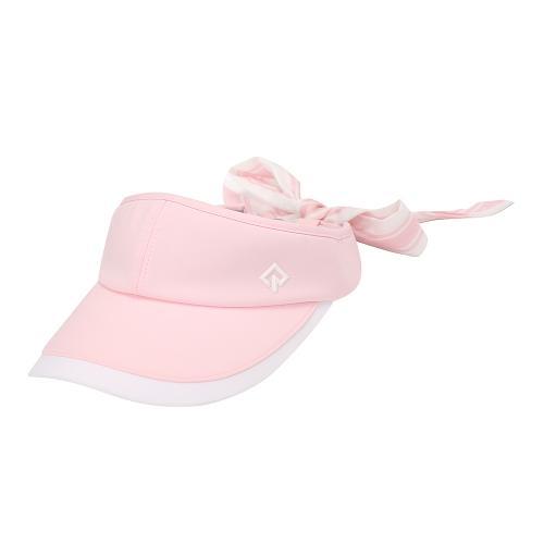 [레노마골프]21SS 여성 배색 리본 탈부착 썬캡 모자 RWACK6813-411_G