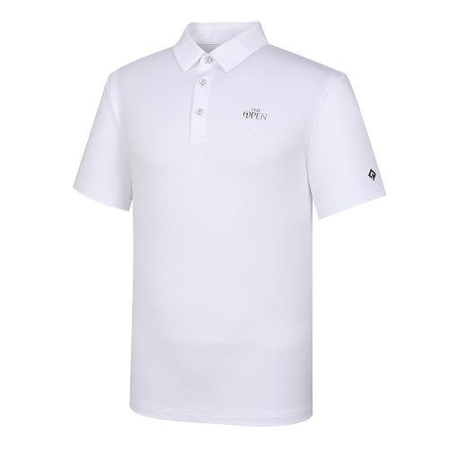 [THE OPEN X renoma] 남성 등판 로고JQD 카라 반팔 티셔츠 RMTYK2194-101_G