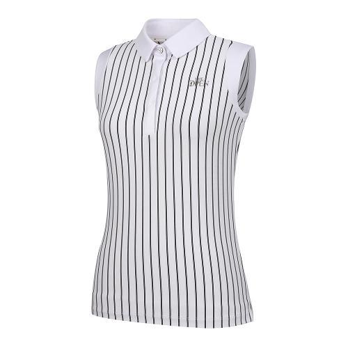 [THE OPEN X renoma] 여성 스트라이프 카라 민소매 티셔츠 RWTSK6192-101_G