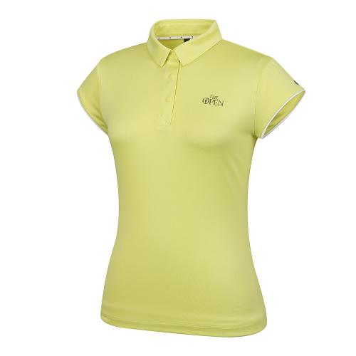 [THE OPEN X renoma] 여성 등판 로고 자가드 카라 반팔 티셔츠 RWTYK6191-203_G