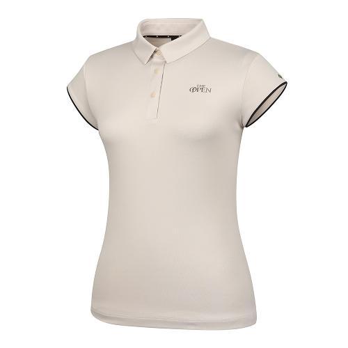 [THE OPEN X renoma] 여성 등판 로고 자가드 카라 반팔 티셔츠 RWTYK6191-509_G