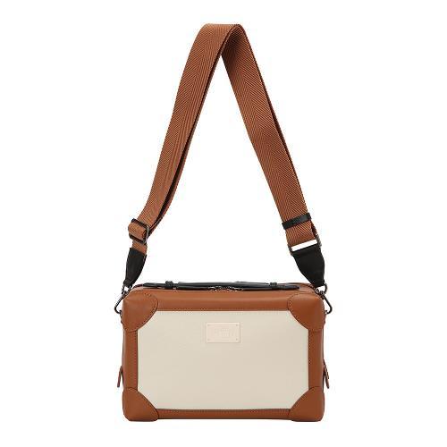 [THE OPEN X renoma] 여성 배색 사각 크로스백 RWABK9896-509_G