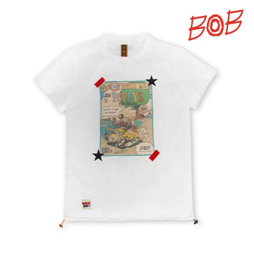 BOB 여성 뽀빠이 라운드 티셔츠 - GBM2TR550_WH