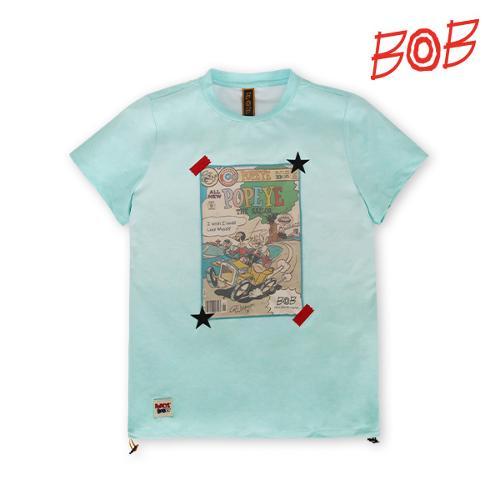 BOB 여성 뽀빠이 라운드 티셔츠 - GBM2TR520_MT