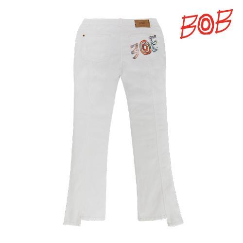 BOB 여성 스트레치 나팔 데님 팬츠 - GBM2PT580_WH