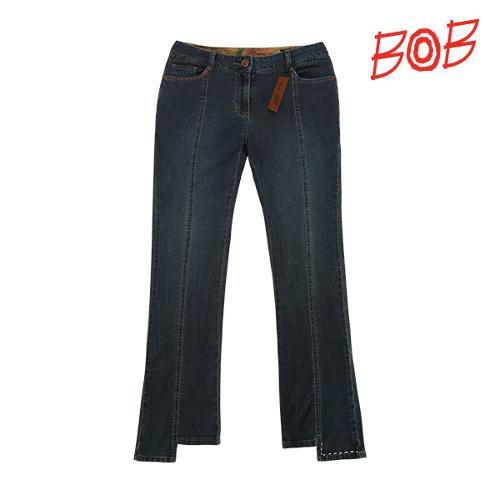 BOB 여성 자수포인트 나팔 데님 팬츠 - GBM2PT570_NA