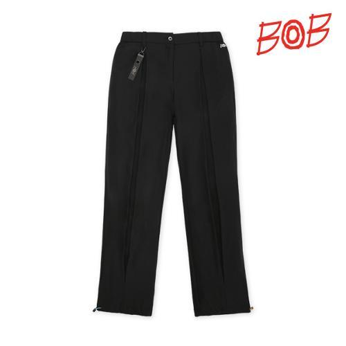 BOB 여성 트리코트 원단 스트링 주름 팬츠 - GBM2PT540_BK