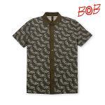 BOB 남성 린넨 원단 로고플레이 티셔츠 - GBM1TS070_KH