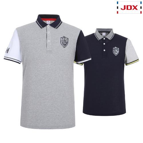 JDX 남성 소매 컬러블럭 카라티셔츠 2종택1 X2QMTSM12