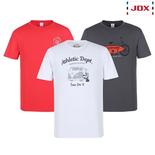 JDX 남성 그래픽포인트 티셔츠 3종 택1 X3QMTSM32
