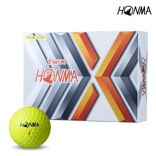 2021 혼마 TW-X 골프공 옐로우볼 3피스 12알 BT1908