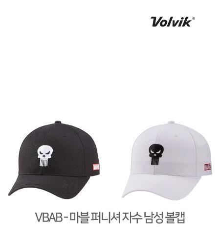 볼빅 정품 21 VBAB 마블 퍼니셔 자수 남성 볼캡 모자