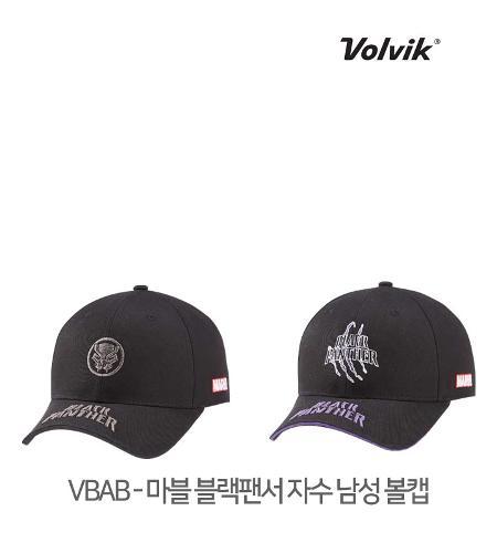 볼빅 정품 21 VBAB 마블 블랙팬서 자수 남성 볼캡 모자