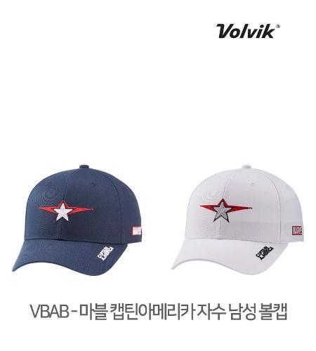볼빅 정품 21 VBAB 마블 캡틴아메리카 자수 남성 볼캡 모자