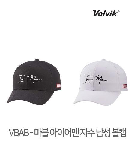 볼빅 정품 21 VBAB 마블 아이어맨 자수 남성 볼캡 모자