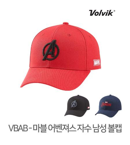 볼빅 정품 21 VBAB 마블 어벤져스 자수 남성 볼캡 모자