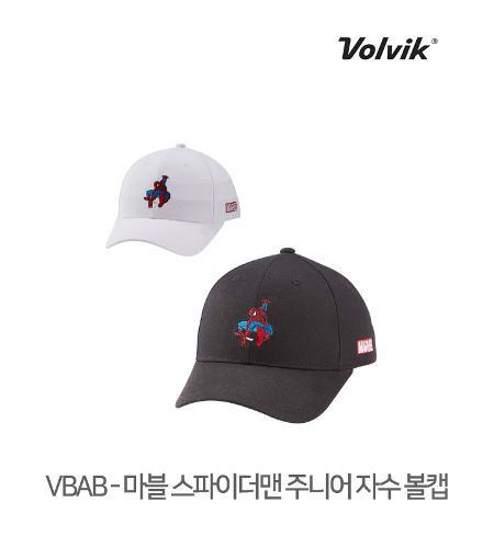 볼빅 정품 21 VBAB 마블 스파이더맨 자수 주니어 볼캡 모자