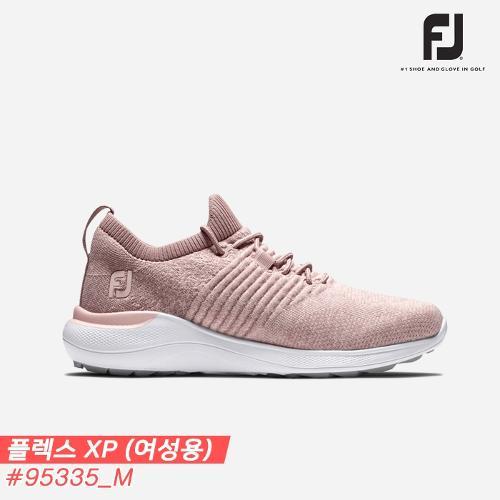 [아쿠쉬네트코리아정품]2021 풋조이 플렉스 엑스피(FLEX XP) 스파이크리스 골프화 [95335/M/핑크][여성용][5mm작게 주문하세요]