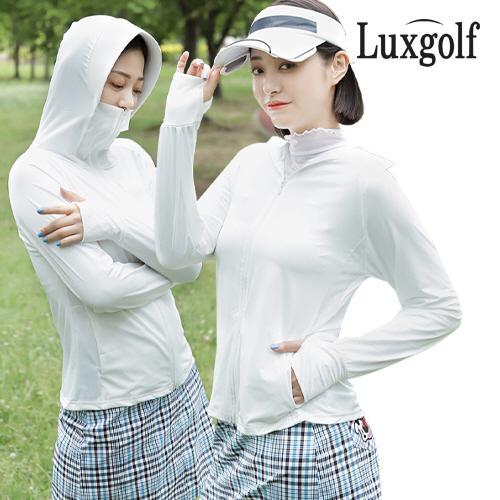 럭스골프 여성 UV차단 나그랑 후드 점퍼 LX1M801W
