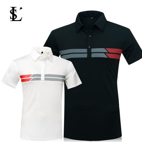 [LUSEN] 루센 옆스트라이프 골프 반팔 티셔츠 Model No_B2-0E162