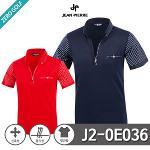 [JEAN PIERRE] 쟌피엘 소매 포인트 스판 하프집업 반팔티셔츠 Model No_J2-0E036