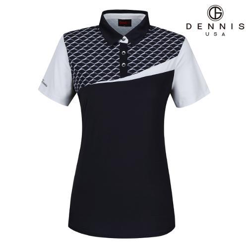 [데니스골프]D50 패턴프린트 면블럭 티셔츠_NAIMLTS093