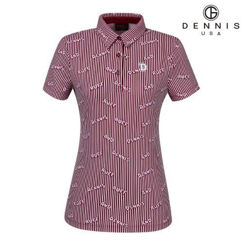 [데니스골프]로고스트라이프 패턴 티셔츠_NAIMLTS060