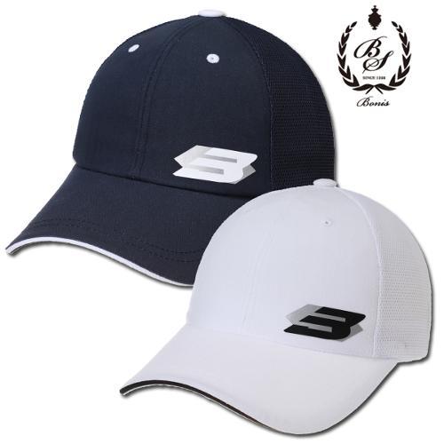 [보니스 골프] 메쉬배색 B로고 프린팅 남성 골프 캡모자/골프모자_100163