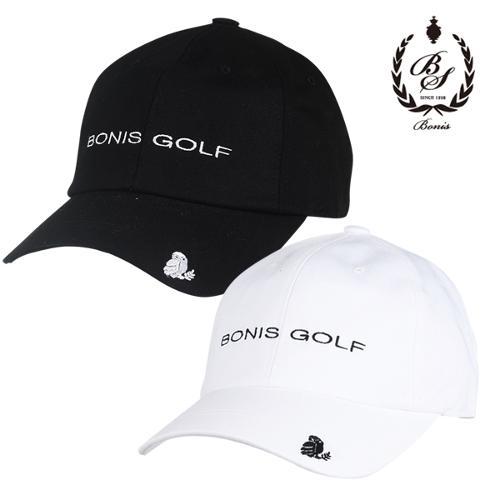 [보니스 골프] 순면 베이직 로고자수 남성 캡모자/골프모자_100048