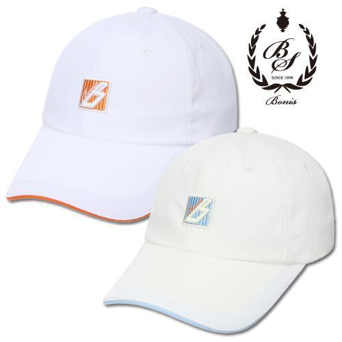 [보니스 골프] 심플폴리 배색라인 남성 벨크로 캡모자/골프웨어_100041