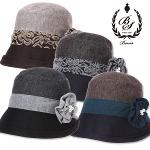 [보니스 골프] 배색 사이드 플라워 코사지 여성 버킷 모자/골프웨어_100112