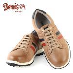 [데니스 골프] 브라운 삼색 배색 스파이크리스 남성 골프화/골프용품_100267
