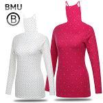 [BMU 골프웨어] 폴리스판 배색 도트 여성 귀달이 이너웨어/골프웨어_100582