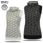 [BMU 골프웨어] 폴리스판 3D 사각패턴 여성 귀달이 민소매티셔츠/골프웨어_100586