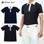 [MASTER BEAR] 마스터베어 사각체크 반팔 카라티셔츠 Model No_M2-0B013