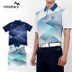 [MCKINLY] 맥킨리 디지털 패턴 배색 반팔 카라티셔츠 Model No_E2-0M042