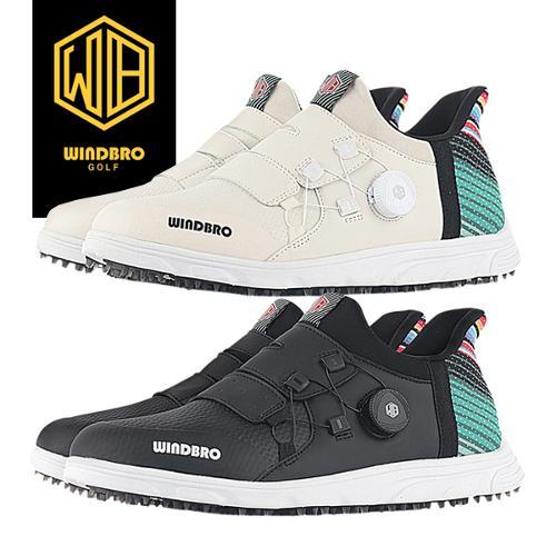 [22년신상]윈드브로 SEXYBACK B-02 RAINBOW 스파이크리스 보아형 남/여 골프화+신발주머니