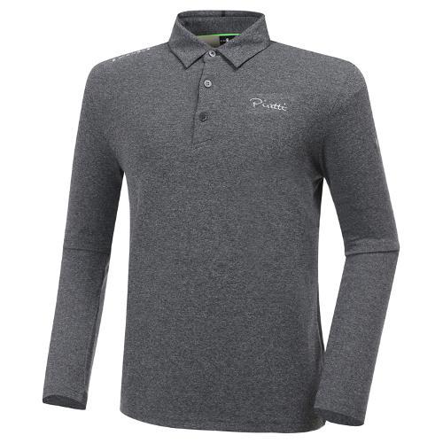 [와이드앵글] 남성 ELITE 피레티 기본 로고 긴팔 카라 티셔츠 M WMU20205C4