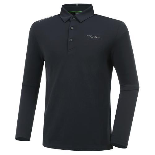 [와이드앵글] 남성 ELITE 피레티 기본 로고 긴팔 카라 티셔츠 M WMU20205Z1